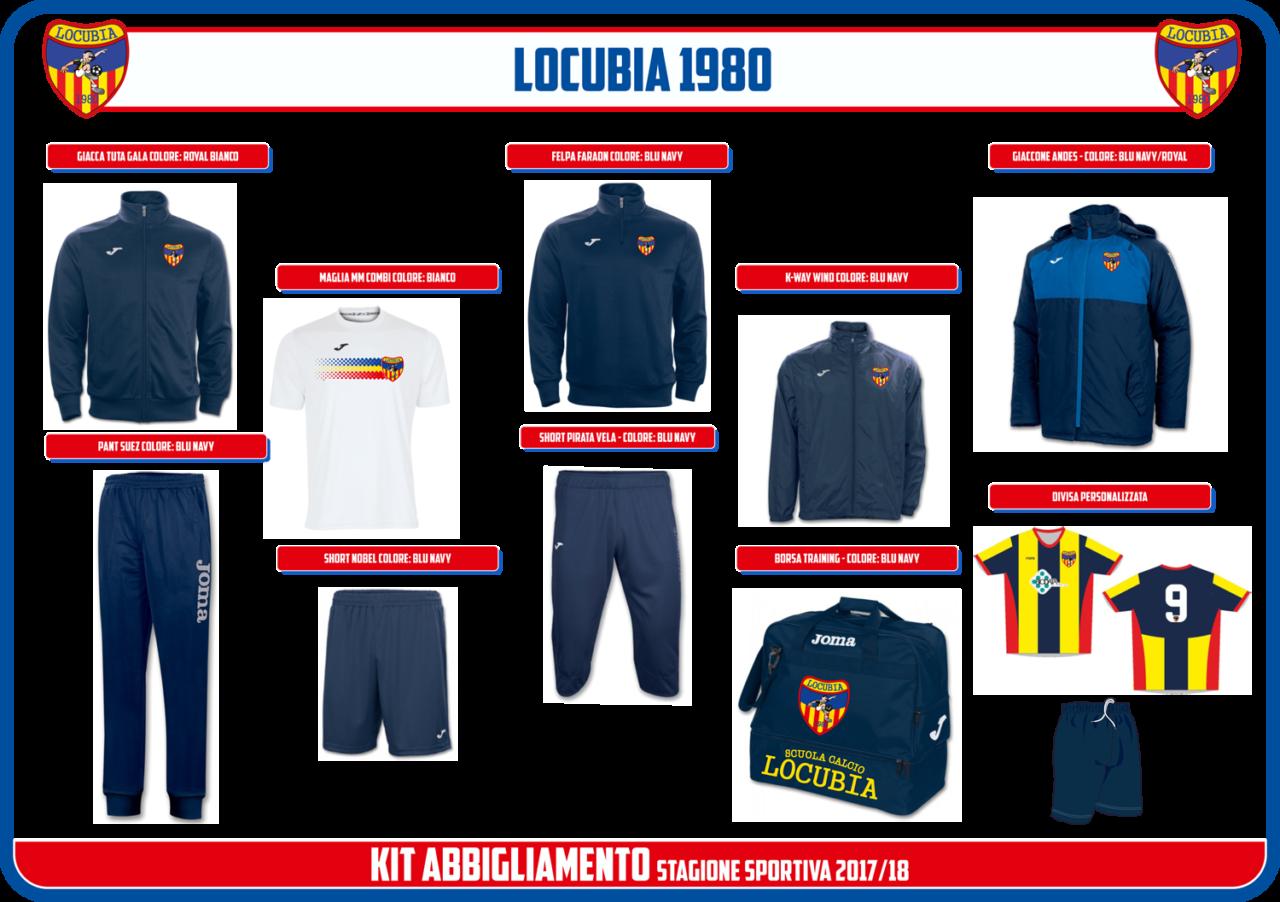 kit abbigliamento sportivo